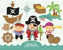 Pirates Digital Clipart Set / instant download - 13001