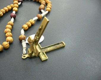 Vintage ROSARY - ROSE WOOD very old , it is a must have ...(011)