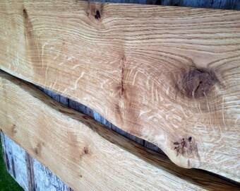 Soild oak floating shelves