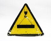 vintage soviet union plastic warning sign industrial sign