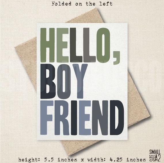 HELLO BOYFRIEND Anniversary Card Funny Card Card For