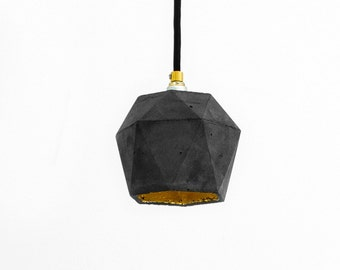Concrete hanging lamp [T2]dark Lamp Gold triangulated