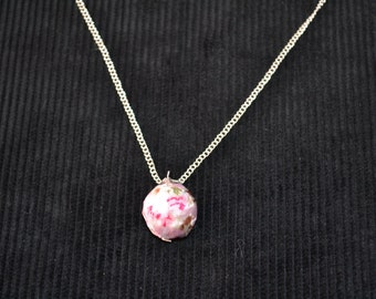 Pink Oriental Blossom Style Necklace