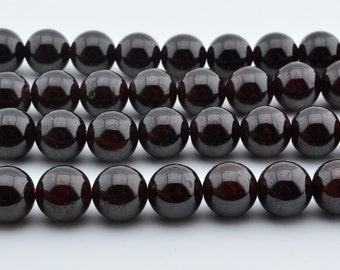 15.5 IN  10mm  Garnet  Gem  Round Beads