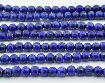 16 IN  4MM   Lapis Lazuli  Gem  Loose  Beads  Round