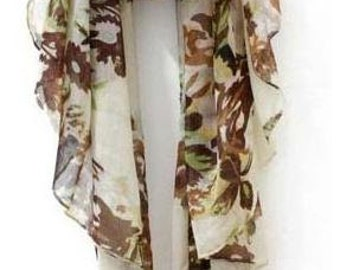 NEW 100% cotton voile muslim hijab floral scarf Women Fashion Style