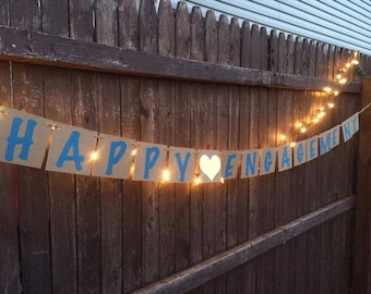 Happy Engagement Banner - Any color