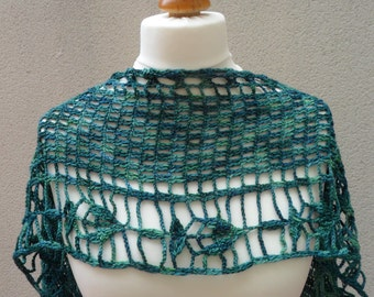Pattern Pdf Posidonia shawl crochet