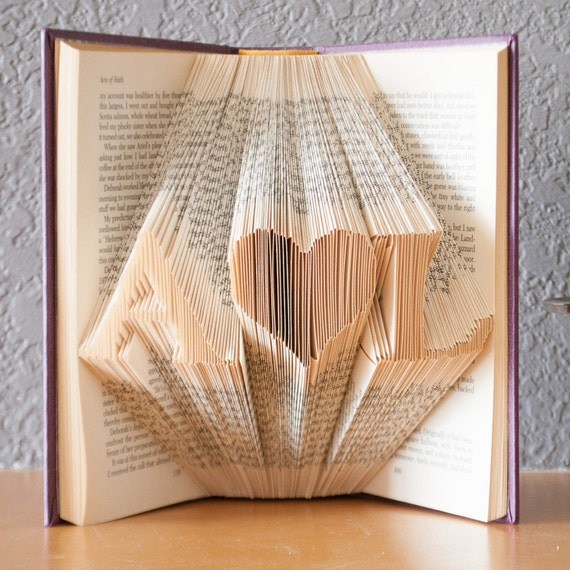 Personalized Gift Folded Book Art Book Lover Home