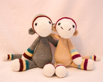 Striped Monkey Crocheted Stuffed Animal/Toy (Made to Order)
