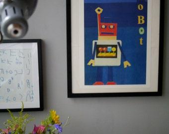 A3 Framed Robot Print