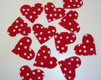 6 Valentine Heart Iron On Appliques - READY TO SHIP - Heart Applique - Valentine Hearts - Valentine Applique