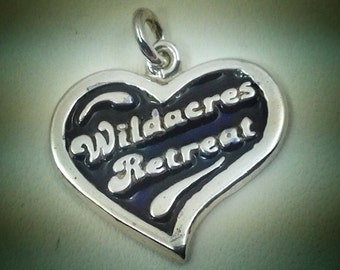 "Sterling silver ""Wildacres Retreat"" charm"