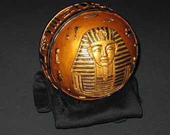 """3.5"""" Wide 8 oz. Egyptian Ball with Embossed Hieroglyphs and Pharaoh"""