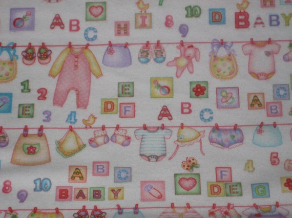Sweet baby kids fabric by the yard pink pastels little for Kids fabric by the yard