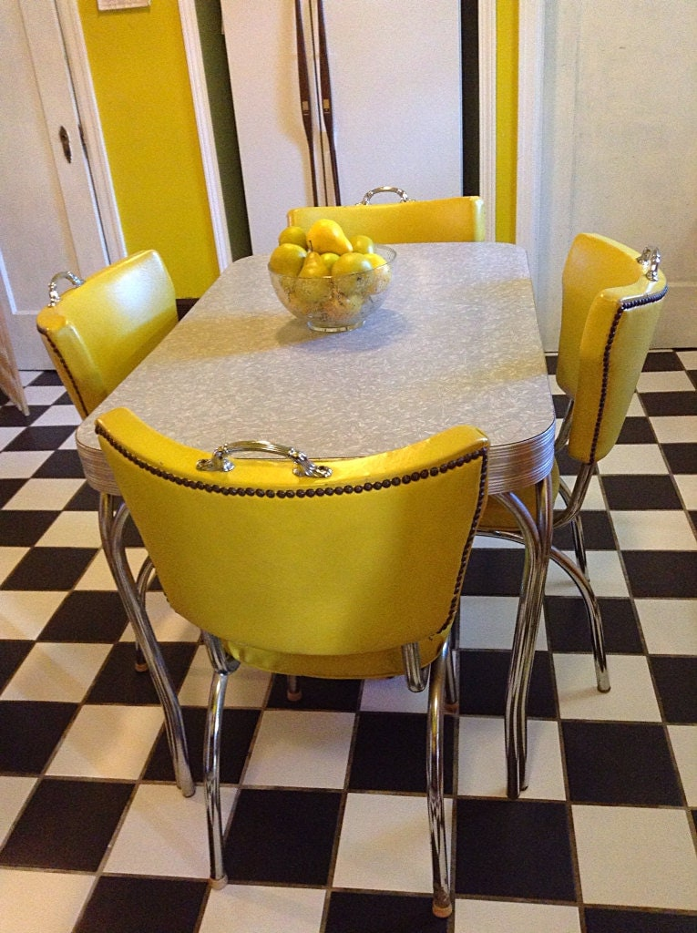 1950 S Grey Mother Of Pearl Formica Table