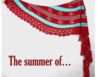 the summer of... Yarn Kit with Beads - Stunning Superwash Fingering Weight - 100% Superwash Merino
