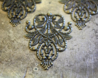 Large Bronze Filigree Components