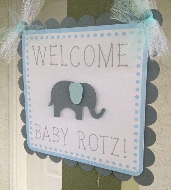 Items similar to baby shower door sign decorations happy for Baby shower door decoration