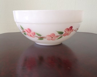 Vintage Fire King Pink Blossom Mixing Bowl Gay-Fad Studios