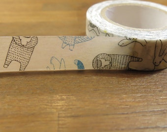 classiky Masking Tape - Animals