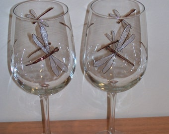 Dragonfly Wine Glasses 18.5ounce