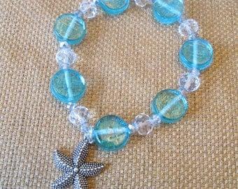 Swarovski Crystal and Glass Starfish Bracelet by The Darling Duck