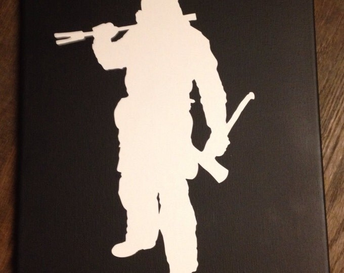 Firefighter Silhouette canvas