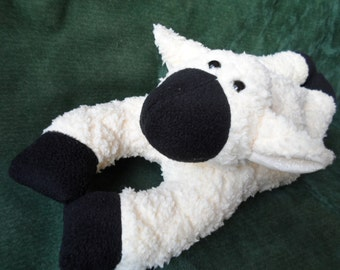 Lily a soft cuddly lamb to hug