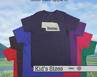 Nebraska home tshirt KIDS sizes The Original home tshirt