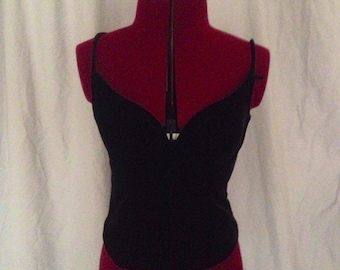 Vintage Black Velvet Corset Goth Pin Up