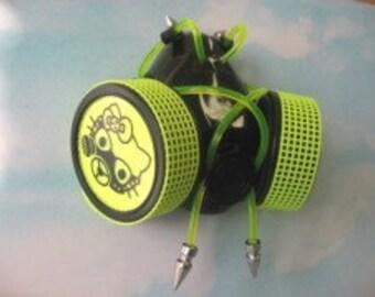 Yellow Lace Cyber Gas Mask Kitten Respirator