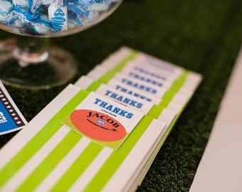 Football Themed Favour Tags ( AFL ) / Thankyou Tags / Football Party
