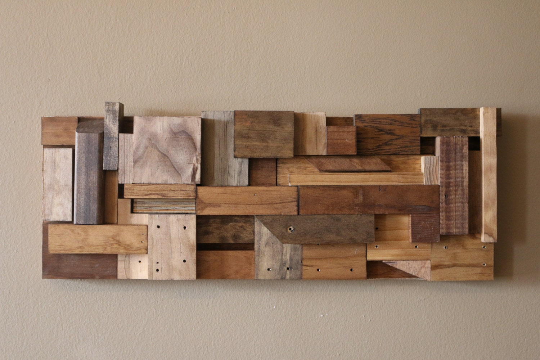 Reclaimed Wood Art Wood Wall Art Scrap Wood Art By