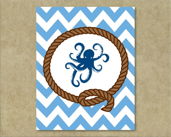 Nautical Kitchen Wall Decor : Octopus wall art nautical decor home by