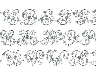 Instant download   Monogram Font Machine Embroidery Designs