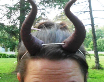 Maleficent Horns, Brown, Dragon, Sleeping Beauty, Bull Horns, Big, Headband Demon Horn Devil Lightweight  Costume, Black Cosplay, Costume,