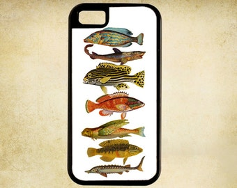 1800s Illustration of Exotic Fish iPhone Case 4, 4s, 5, 5C, 6, 6+ and Samsung Galaxy 3, 4, 5, 6, Edge