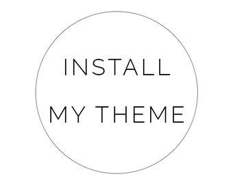 Add On Install my Wordpress Theme