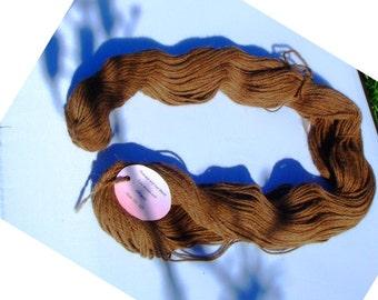 Huacaya and Suri alpaca yarn 3 ply doubleknit skein
