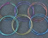 """Niobium 1 7/8"""" (48 mm) Hoop Earrings - Choose a color!"""