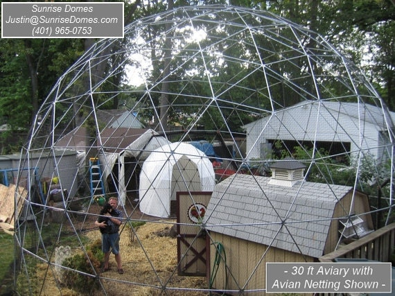 sale 28 ft geodesic dome outdoor aviary flight cage animal. Black Bedroom Furniture Sets. Home Design Ideas