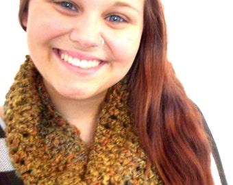 Amber saffron cowl collar