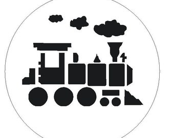 Revered image throughout train stencil printable