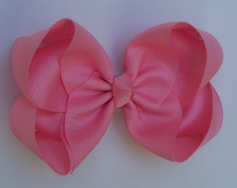 Large Boutique Bow in Pink Girls Big Hair Bow Girls Bow Jumbo Bow Hair Bow Pink Hair Bow