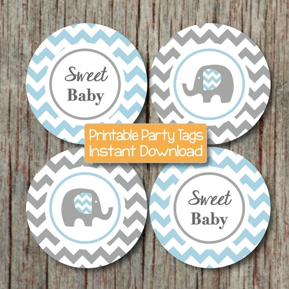 Cake Toppers Baby Shower Etsy : Items similar to Elephant Baby Shower Decorations Cupcake ...