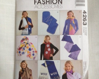 McCall's Pattern 4263 Fashion Accessories Fleece Scarves