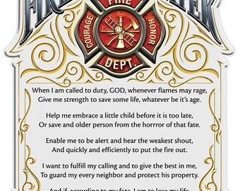 Items Similar To A Fireman S Prayer Pdf Counted Cross