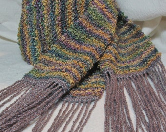 Handwoven Rayon Chenille Boucle Scarf