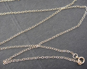 "14 K gold filled 20"" long chain, gold filled chain"